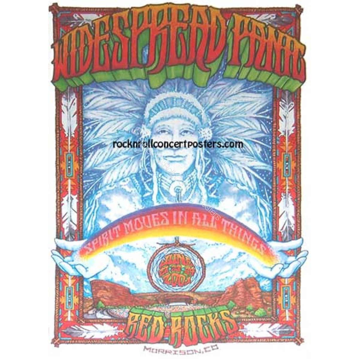 Widespread Panic @ Red Rocks June 22-24th 2001 Official concert poster 1st edition