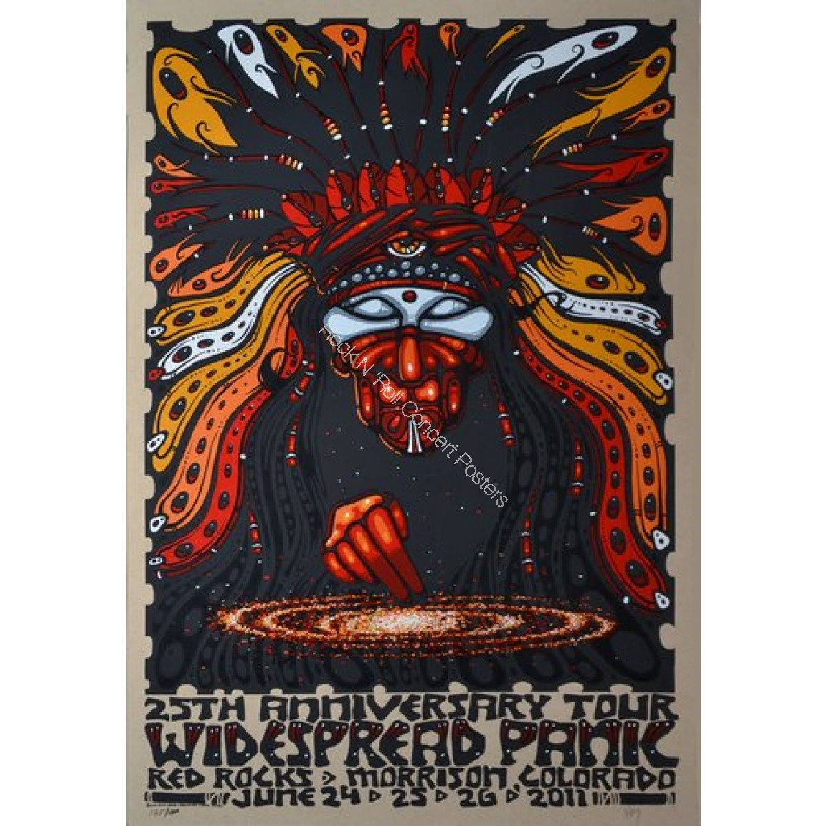 Widespread Panic @ Red Rocks Amphitheatre 6/24-26/11 Official screen print