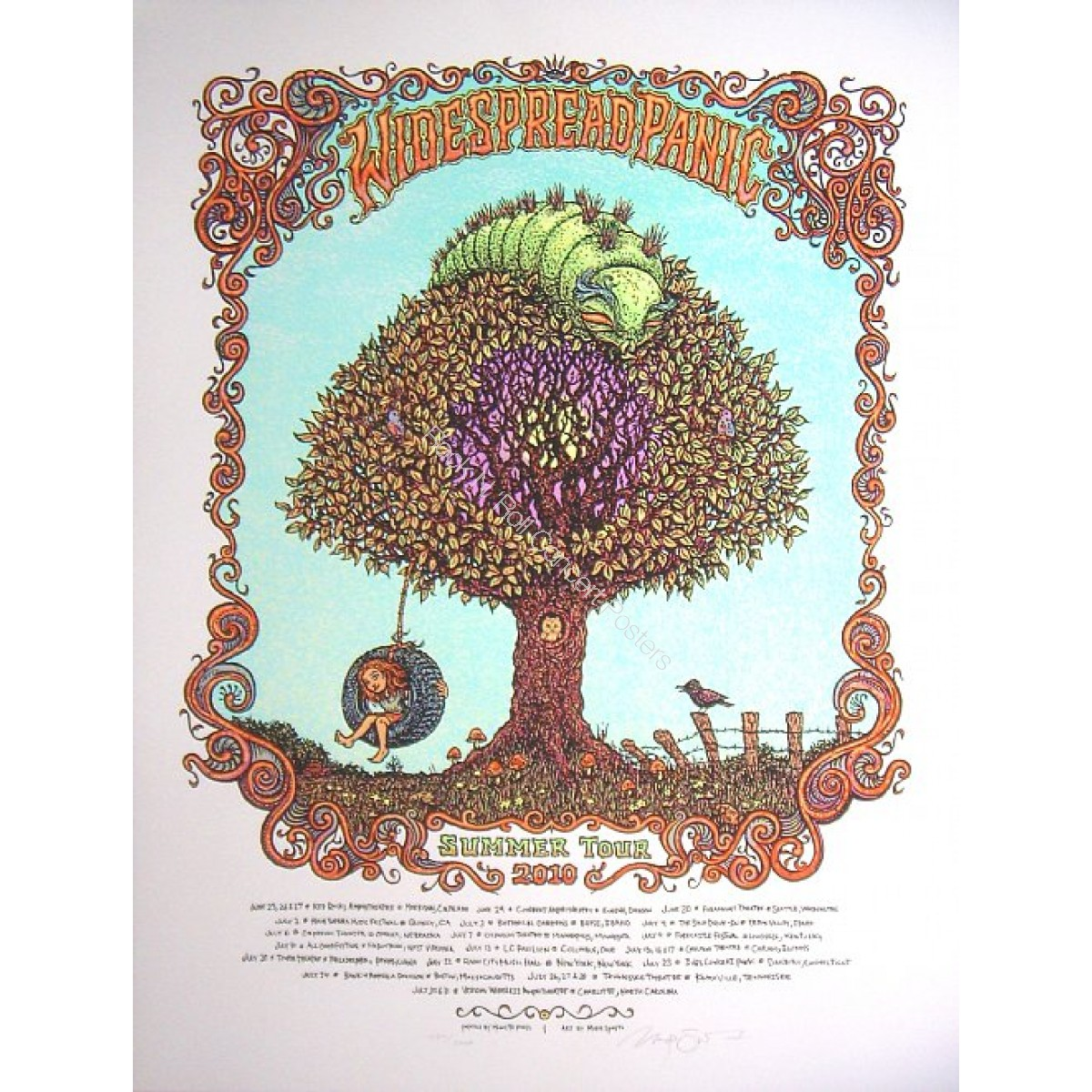 Widespread Panic Summer Tour 2010 1st Edition by Marq Spusta