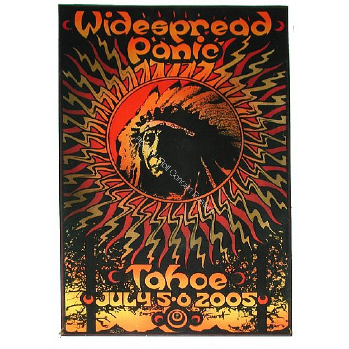 Widespread Panic Lake Tahoe July 5th & 6th 2005 Hand Numbered poster edition of 50 By Michael Everett