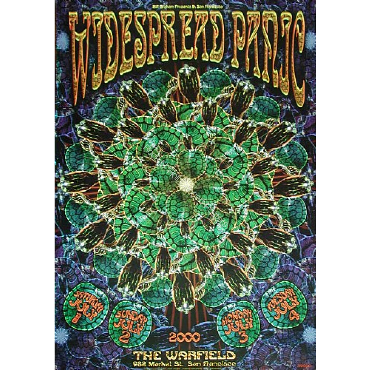 Widespread Panic @ The Warfield Theatre 7/1-4/00