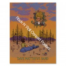 Dave Matthews Band Fiddler's Green Amphitheatre Greenwood Village Denver Colorado 8/24/19 Official Screen Print
