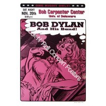 Bob Dylan & His Band  @  Bob Carpenter Center University Of Delaware Official Event Poster