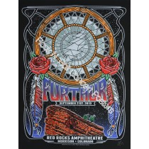 Furthur (Grateful Dead) Red Rocks Amphitheatre September  22nd 2013 Night 3 Official 1st Edition Poster
