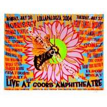 Lollapalooza Coors Amphitheatre 2004 Official print
