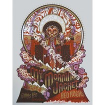 My Morning Jacket & Amos Lee @ Red Rocks 8/4/11 Limited Edition Print S/N Edition of 275 By Guy Burwell