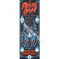 Pearl Jam @ The Pepsi Center Denver Colorado October 22nd 2014 Official Silk Screen Print