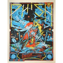 Phish Dick's Sporting Goods 2012 Official Silk Screen Print Limited Edition of 900  (Blue Variant) Poster