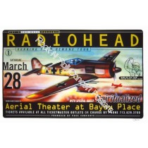 Radiohead @ The Aerial Theatre Houston TX 3/28/98 Official Concert Poster 1st Edition Hand Signed By The Artist