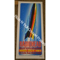 Radiohead Cynthia Woods Mitchell Pavilion Woodlands Texas October 1st 2003 Poster Hand Signed