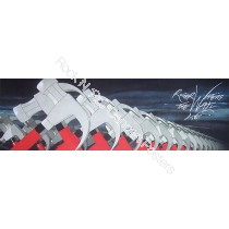 """Roger Waters """"The Wall Live""""  Hand numbered tour lithograph with embossed printers stamp."""