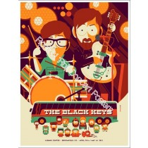 The Black Keys 1st Bank Center Broomfield Colorado April 30th & May 1st 2012 Official Silk Screen Poster S/N Edition Of 325 By Tom Whalen South Park