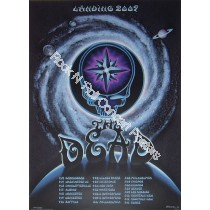 "The Dead ""Landing 2009"" Tour Poster By Emek"