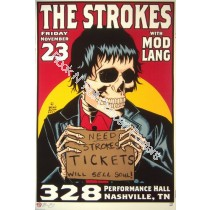 The Strokes @ Performance Halll Nashville TN 11/23/01 Limited Edition Poster By Brian Ewing