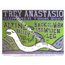 Trey Anastasio Alpine Valley 7/21/01 Official Screen Printed Poster L.E.