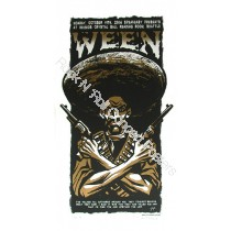 Ween 10/11/04  Nuemo's Crystal Ball Reading Room, Seattle Washington official silk screen print By Justin Hampton