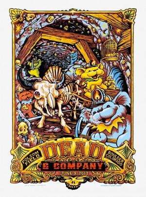 Dead & Company Folsom Field Boulder Colorado June 9th 2017 LE Screen Print Poster By AJ Masthay