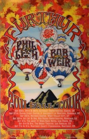 Furthur  Featuring Bob Weir & Phil Lesh of The Grateful Dead West Coast Tour 2011 Lenticular Print